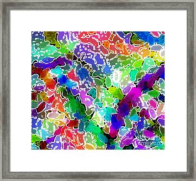 Framed Print featuring the digital art Astratto - Abstract 24 by Ze  Di