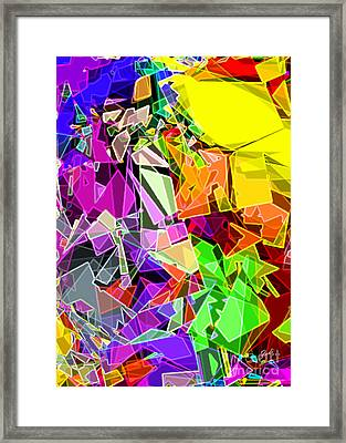 Framed Print featuring the digital art Astratto - Abstract 51 by Ze  Di