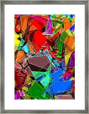 Framed Print featuring the digital art Astratto - Abstract 52 by Ze  Di