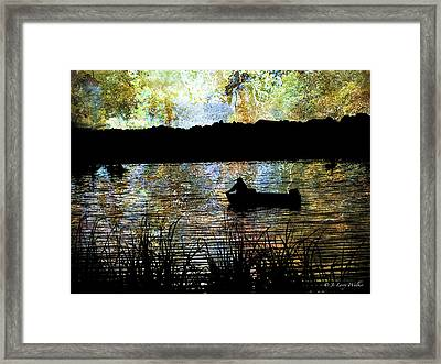Astray In Thought Framed Print by J Larry Walker