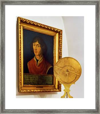 Astrolabe And Portrait Of Copernicus Framed Print