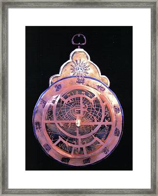 Astrolabe Prayer Framed Print