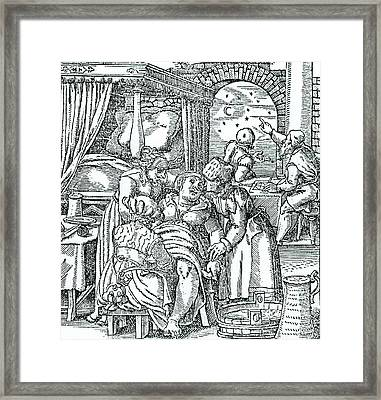 Astrologers Casting A Horoscope Framed Print
