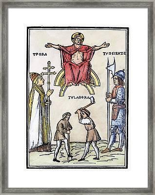 Astrology Book, 1511 Framed Print by Granger