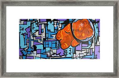 Astronaut Gummy Bear Framed Print