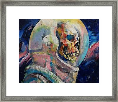 Astronaut Framed Print by Michael Creese