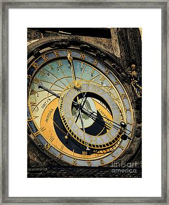 Astronomical Clock In Prague Framed Print by Jelena Jovanovic