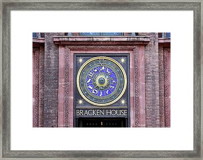 Astronomical Clock Framed Print by Martin Bond