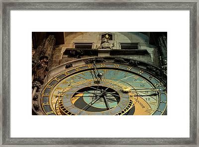 Astronomical Clock Framed Print by Sergey Simanovsky