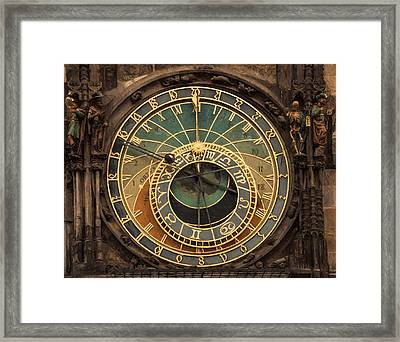 Astronomical Clock Framed Print by Shirley Radabaugh