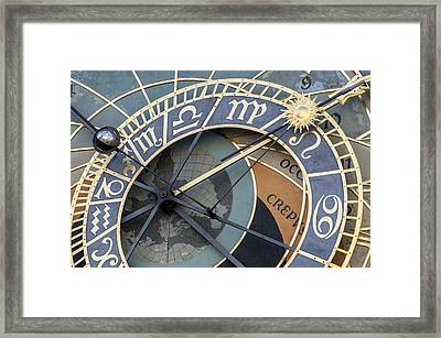 Astronomical Clockof Prague. Framed Print by Fernando Barozza