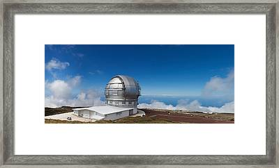Astronomy Telescope On The Coast, Gran Framed Print by Panoramic Images