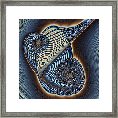 Asymmetric Wire Bow Spiral Framed Print by Mark Eggleston