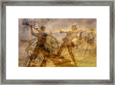 At A Place Called Gettysburg Ver Two Framed Print by Randy Steele