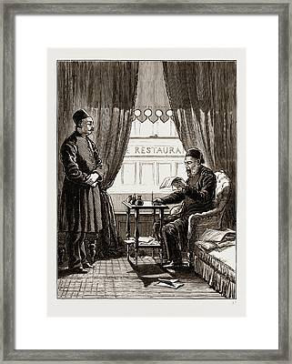 At A Police Court At Constantinople, Istanbul Framed Print by Litz Collection