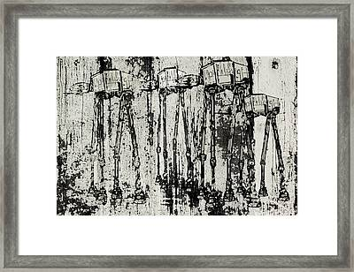 At - At Herd Framed Print