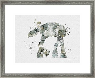 At - At Framed Print by Rebecca Jenkins