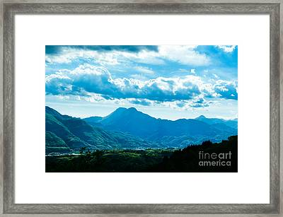 At Barga Looking Towards The Apuane Alps From The Duomo Tuscany Framed Print