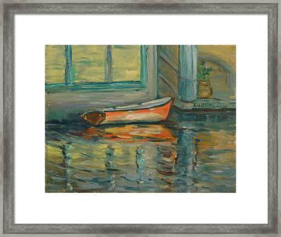At Boat House 2 Framed Print