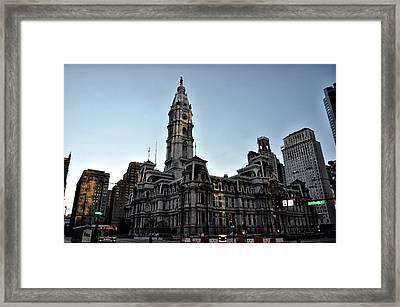 At City Hall In Philadelphia Framed Print
