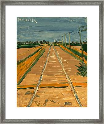 At County Road 101 Framed Print
