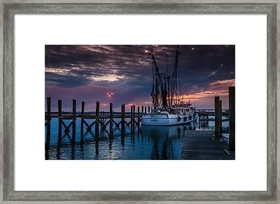 At Dockside Framed Print by Richard Kook