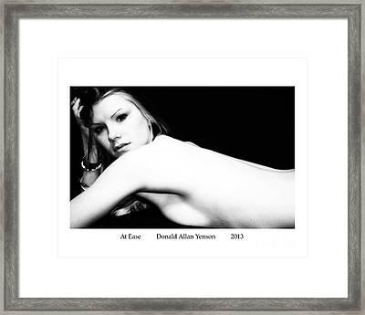 At Ease Framed Print