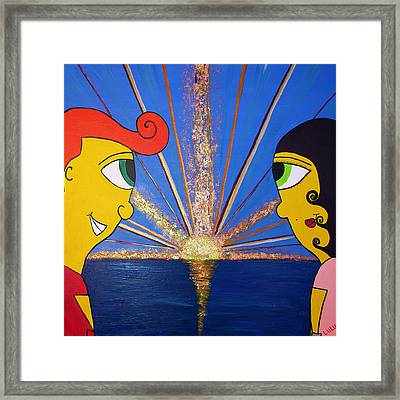 At First Sight Framed Print by Luisa Padro