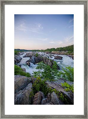 At Great Falls Framed Print by Kristopher Schoenleber