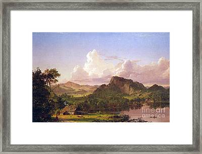 At Home On The Lake By Frederick Edwin Church Framed Print