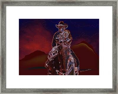At Home On The Range Framed Print by Kae Cheatham