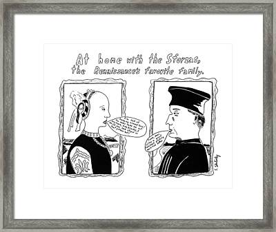 At Home With The Sforzas Framed Print by Stephanie Skalisk