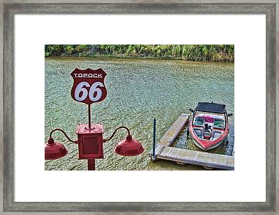 At Lake Havasu Framed Print by Cathy Anderson