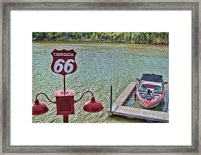 At Lake Havasu Framed Print