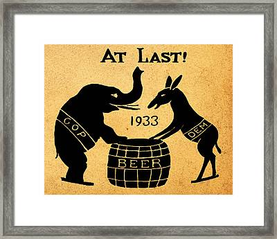 At Last Framed Print by Bill Cannon