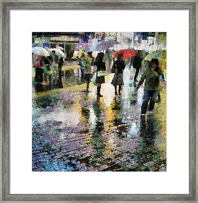 At Last Spring Rain Framed Print