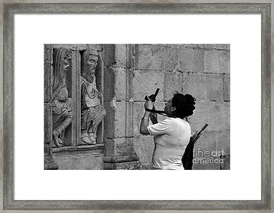 At Least Try And Smile While The Lady Takes Your Photo..... Framed Print by James Brunker