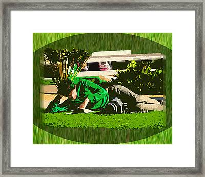 At Leisure Framed Print