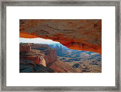 At Mesa Arch  --   2010 First Place Peoples Choice Caa Art Show  Framed Print