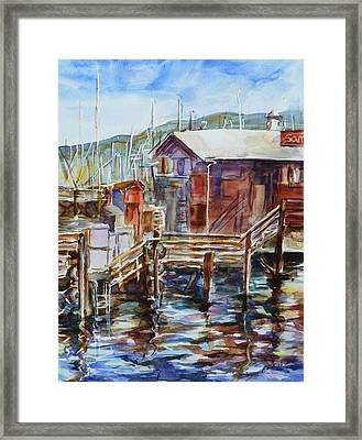 At Monterey Wharf Ca Framed Print