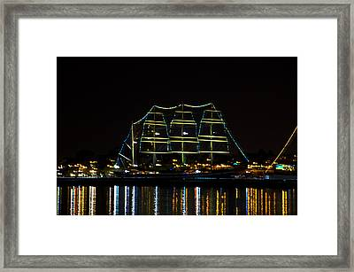 At Night On The  Delaware River - The Mushulu Framed Print