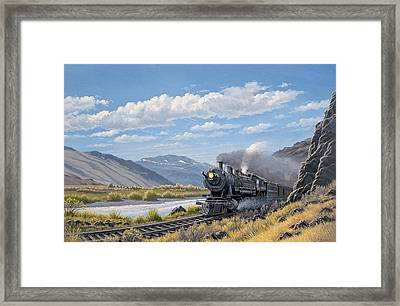 At Point Of Rocks- Bound For Livingston  Framed Print