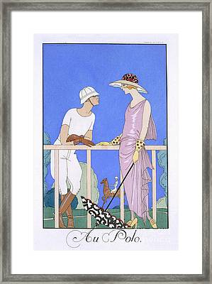 At Polo Framed Print by Georges Barbier