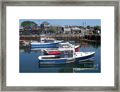 Colorful Boats Framed Print by Eunice Miller