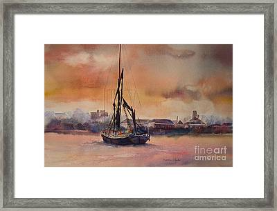 Framed Print featuring the painting At Rest On The Thames London by Beatrice Cloake