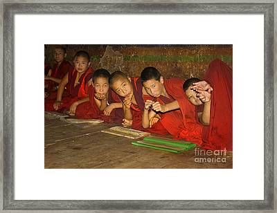 Framed Print featuring the digital art At School by Angelika Drake