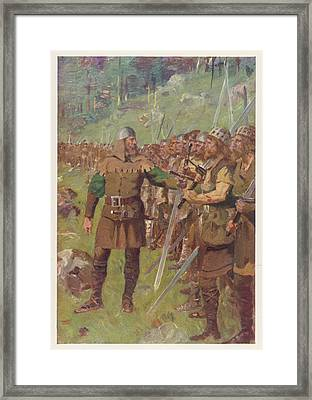 At Sempach Arnold Of  Winkelried Framed Print by Mary Evans Picture Library