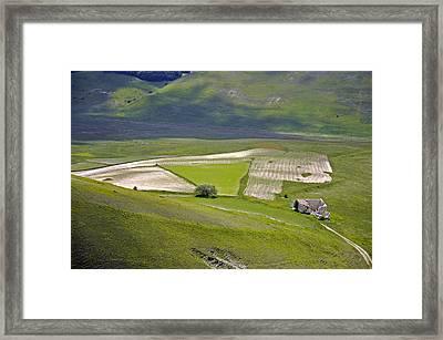 Framed Print featuring the photograph Parko Nazionale Dei Monti Sibillini, Italy 7 by Dubi Roman