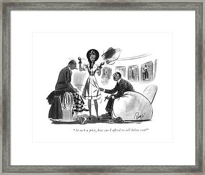 At Such A Price Framed Print by John Ruge