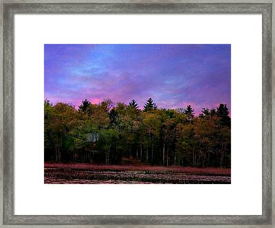 At Sunset Framed Print by Barbara S Nickerson